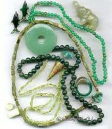 Edelstein grün, Frauensteine, Glückssteine