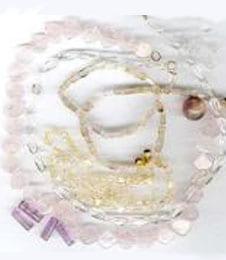 Weiss Gesundheitssteine, Kristallklar Farbe
