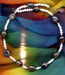 Edel Steine Onyx, Perlmutt, Amazonit